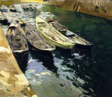 Joaquin Sorolla (Soroya). Fishing boats, port of Zarauz