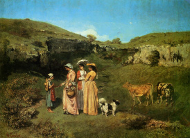 Gustave Courbet. Ladies from the village