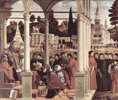 Витторе Карпаччо. Цикл картин к житию св. Стефана, диспут св. Стефана