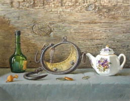 Sergey Alekseevich Makarov. Still life with kettle