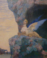 Александр Сеон. Despair of the chimera (Le désespoir de la chimère), 1890 Oil on canvas, 65 × 53 cm