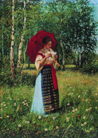 Николай Петрович Богданов-Бельский. За чтением письма