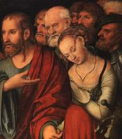 Лукас Кранах Младший. Христос и падшая девушка