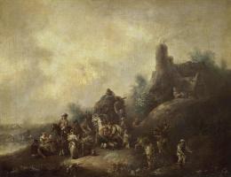 Христиан Вильгельм Эрнст Дитрих (Дитрици). Пейзаж с караваном