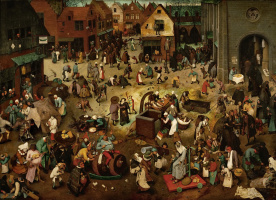 Pieter Bruegel The Elder. The Fight between Carnival and Lent