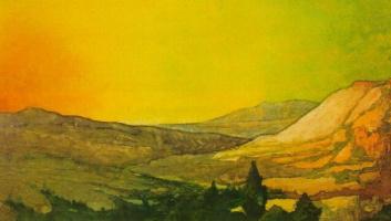 Maxfield Parrish. Landscape in Colorado