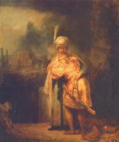 Рембрандт Ван Рейн. Прощание Давида с Ионафаном