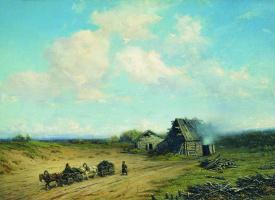 Петр Петрович Соколов. Проезжая дорога. 1865