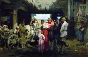 Илья Ефимович Репин. Проводы новобранца