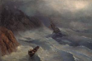 Бушующее море. Эскиз