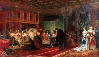 Поль Деларош. Умирающий кардинал Мазарини