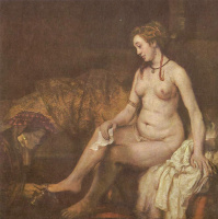 Рембрандт Ван Рейн. Вирсавия с письмом царя Давида