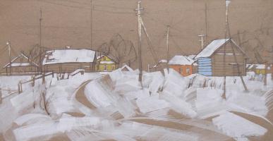 Дорога. из серии Вологодские деревни