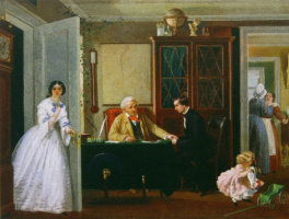 Petr Petrovich Sokolov. Permission for the marriage. 1857