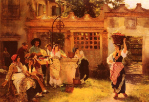 Анри Вудс. Венецианский продавец вееров