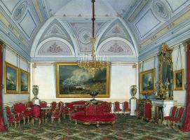 Эдуард Петрович Гау. Виды залов Зимнего дворца. Третья запасная половина. Гостиная