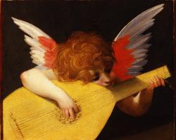 Fiorentino Rosso. Angel playing music