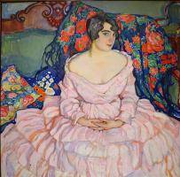 Елена Андреевна Киселева. Портрет дамы (портрет Любови Бродской) 1916