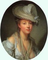 Жан-Батист Грёз. Молодая женщина в белой шляпе