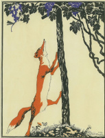 "Dmitry Stakhievich Moore (Orlov). Illustration for I. A. Krylov's fable ""the Fox and the grapes"""