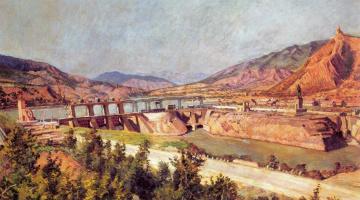 Ilya Ivanovich Mashkov. Sages. Dam on the Kura river highway and Georgian Military highway