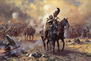 Aleksandr Yurievich Averyanov. Cavalry guards at Borodino