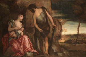 Paolo Veronese. Exiled Cain with his family