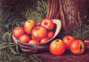 Леви Уэллс Прентис. Натюрморт с яблоками