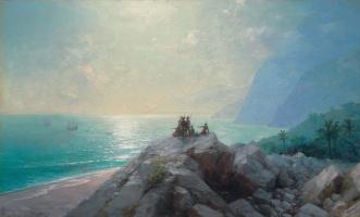 Иван Константинович Айвазовский. Прибытие флотилии Колумба к берегам Америки