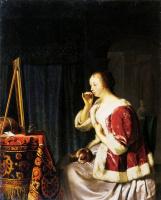 Франц ван Мирис Старший. Молодая женщина за туалетным столиком