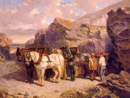 Джон Херринг. Запряженные лошади