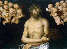 Лукас Кранах Старший. Христос-страстотерпец в окружении ангелов