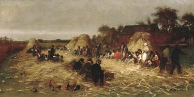 Эдвард Киллингворт Джонсон. Лущение кукурузы в Нанкете