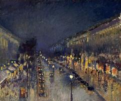 Бульвар Монмартр ночью