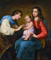 Francisco de Zurbaran. The mystic marriage of St. Catherine