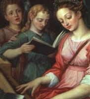 Mihil van Coxie. Saint Cecilia
