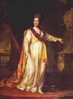 Дмитрий Григорьевич Левицкий. Екатерина II как законодательница в храме богини правосудия
