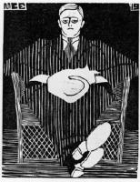 Мауриц Корнелис Эшер. Сидящий мужчина с кошкой на коленях