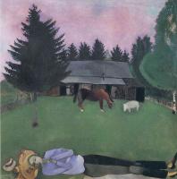 Марк Захарович Шагал. Поэт, лежащий на земле