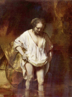 Рембрандт Харменс ван Рейн. Женщина, купающаяся в ручье (Хендрикье Стоффельс?)