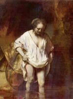 Рембрандт Ван Рейн. Купание, портрет Хендрикье