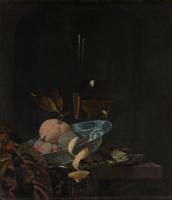 Виллем Кальф. Натюрморт фруктами, стеклянной посудой и китайской чашей Ваньли