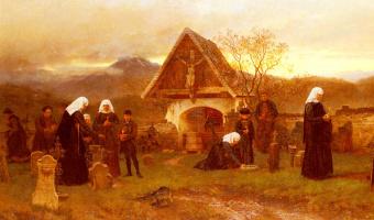 Вильгельм Людвиг Фридрих Риефстахл. В День поминовения усопших на кладбище