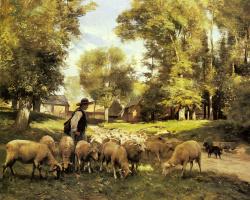 Жюльен Дюпре. Пастух и стадо его