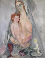Борис Израилевич Анисфельд. Мадонна с младенцем. 1938