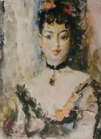 Артур Владимирович Фонвизин. Портрет балерины Люции Юмашевой.1949