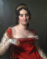 Jerome Martin Langlois. Lady in red with a tiara