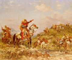 Джордж Вашингтон Уистлер. Арабские воины на конях