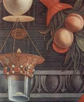 Андреа Мантенья. Алтарный образ церкви Сан Дзено в Вероне. Мадонна на троне и ангелы. Фрагмент