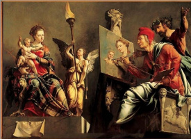 Св. Лука, рисующий богоматерь
